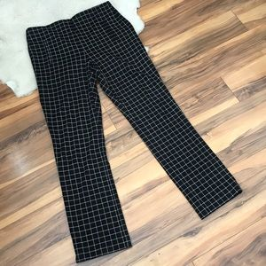 Chico's Black Checked Stretch Pants Size 1 (US 8)
